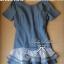 DR-LR-186 Lady Ribbon,Emma Denim Layer Trim Mini Dress thumbnail 11