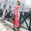 Maxi Dress เดรสยาวลายดอกไม้สีชมพูสวยสดใส thumbnail 5