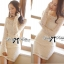 DR-LR-130 Lady Lindsay Off-shoulder Lace Body-con Dress in Ivory thumbnail 1