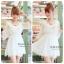 V neck sleev mini dress C170-63A02 thumbnail 1