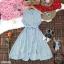 Dress เดรสสั้นลายริ้ว คอจีน แขนกุด ติดกระดุมด้านหน้า thumbnail 5
