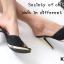 รองเท้าส้นเข็ม แบบหน้าสวม ดีไซน์หรู ตัดขอบกากเพชร thumbnail 7