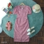 Maxdress ชุดเดรสผ้าทอลายสก็อต ดีเทลแต่งแขนตุ๊กตาพอง thumbnail 4