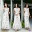 Maxi dress เดรสตัวยาว wila สกรีนดอกไม้และสิงโต thumbnail 1