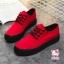 รองเท้าผ้าใบแฟชั่นแพลตฟอร์ม ทำจากผ้าใบสีทูโทนสดใสด้านนอก-ใน thumbnail 3