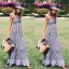 Maxi Dress แม็กซี่เดรสสายเดี่ยวลายสก็อต thumbnail 6