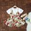 มินิเดรสตัวเสื้อเป็นผ้าโฟเวย์เนื้อหนาสีพื้นขาว thumbnail 7
