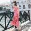 Maxi Dress เดรสยาวลายดอกไม้สีชมพูสวยสดใส thumbnail 2