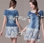 Lady Christine Sweet Pearl Embellished Denim Dress with Lace L163-85C07 thumbnail 1