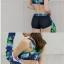 2004 ชุดว่ายน้ำแขนยาว palm leaf โทนสีเขียวน้ำเงินขาว เซ็ต 3 ชิ้น thumbnail 12