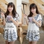 DR-LR-060 Chill Out Floral Bunch Embroidery Mini dress thumbnail 1