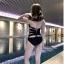 2031 ชุดว่ายน้ำวันพีช สีดำ หลังสายไขว้สวย thumbnail 13