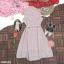 Dress เดรสสั้นลายริ้ว คอจีน แขนกุด ติดกระดุมด้านหน้า thumbnail 8