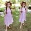 Maxxi Dress สายแต่งดอกไม้ ทรงปาดไหล่ thumbnail 3