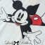 DR-LR-141 Lady Minnie Playful Mickey Print Dress in Black and White thumbnail 6