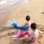 NH018 ชุดว่ายน้ำหางนางเหงือก หางปิด สามารถใส่ฟินได้ (ในชุดไม่รวมฟิน) 1 ชุด มี 2 ชิ้น thumbnail 5