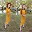 Maxxi Dress งานแม็กซี่เดรสยาว คอกลม พิมพ์ลายดอกเดซี thumbnail 2