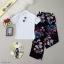 Set 2 ชิ้น เสื้อยืดคอตตอลเนื้อนิ่ม มาคู่กับกางเกงขายาว thumbnail 4