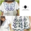 DR-LR-060 Chill Out Floral Bunch Embroidery Mini dress thumbnail 9