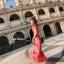 Maxi Dress เดรสยาวลายดอกไม้สีชมพูสวยสดใส thumbnail 3