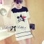 DR-LR-141 Lady Minnie Playful Mickey Print Dress in Black and White thumbnail 9