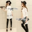 Lady Lindsey Insert Lace Cotton Long Shirt in White thumbnail 7