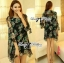 DR-LR-245 Lady Daria Beachy Blossom Print Chiffon Mini Dress thumbnail 5