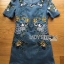 Lady Lila Sweet Feminine Floral Embroidered Denim Dress L200-85C03 thumbnail 6
