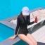 657 ชุดว่ายน้ำวันพีชแขนยาว สีดำแต่งแถบขาว ซิปหน้า thumbnail 6