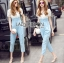 Lady Sophie Smart Casual White Lace and Blue Jumpsuit L269-7519 thumbnail 1