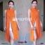 Set 2 ชิ้น เสื้อตัวยาวคอปีน แขนกุดผ่าหน้า ผ้าพิมพ์ลายไทย thumbnail 4