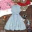 Dress เดรสสั้นลายริ้ว คอจีน แขนกุด ติดกระดุมด้านหน้า thumbnail 3