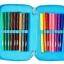 SMP084 กล่องดินสอ 3 ชั้น พร้อมเครื่องเขียน 42 ชิ้น Smiggle squad triple pencil case thumbnail 5