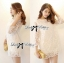 DR-LR-110 Lady Melanie Elegant Camelia White Organza Dress thumbnail 1