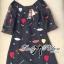 DR-LR-292 Lady Dree Monochrome Heart-Shaped Print Mini Dress thumbnail 12