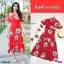 Maxi Dress แมกซี่เดรสยาว คอวี งานพิมพ์ลายดอกดอกไม้ thumbnail 6