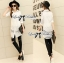 Lady Lindsey Insert Lace Cotton Long Shirt in White thumbnail 3