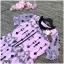 เดรสผ้าปักลายสไตล์วินเทจทรงแขนตุ๊กตาคอแต่งระบายสีดำผูกโบว์ thumbnail 6