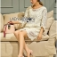 Lady Jen Feminine Laser-Cut and Embroidered Lace Dress in White L201-75C04 thumbnail 4
