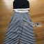 Lady Celina Minimal Chic Cropped Top and Striped Pants Set L259-7918 thumbnail 15