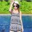 2007 ชุดว่ายน้ำ เซ็ต 4ชิ้น บรา+บิกินี่+ขาสั้น+เสื้อคลุม สีขาวดำลายสวย thumbnail 6