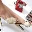 รองเท้าส้นเข็ม แบบหน้าสวม ดีไซน์หรู ตัดขอบกากเพชร thumbnail 5