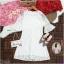 Dress เดรสผ้าลูกไม้ทรงสวยใส่เข้ารูปงานแขนระดับศอกปลายระฆัง thumbnail 3