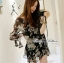 DR-LR-245 Lady Daria Beachy Blossom Print Chiffon Mini Dress thumbnail 3