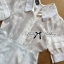 Lady Jenny Star Embroidered Silk Chiffon Collar Jumpsuit L153-79C04 thumbnail 7