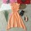 Dress เดรสคอกลมติดกระดุมหลัง 1 เม็ด แขนกุดระบาย thumbnail 6