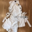 Lady Lucy Minimal Chic Metal Loop Ribbon White Dress L275-7917 thumbnail 18