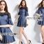 Lady Stella Smart Casual Black Lace and Denim Dress L255-79C12 thumbnail 5