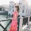 Maxi Dress เดรสยาวลายดอกไม้สีชมพูสวยสดใส thumbnail 6