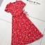 Dress เดรสแขนสั้น เนื้อผ้าพิมพ์ลายทั้งตัว thumbnail 4
